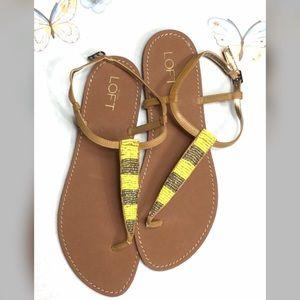 Loft beaded thong sandal never worn sz 9 NWT